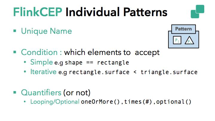 Individual patterns in Flink CEP