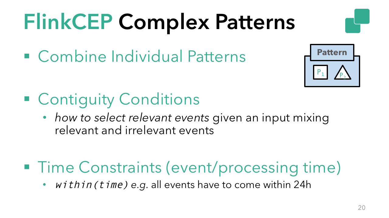 Complex patterns in Flink CEP