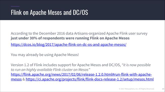 Apache Flink on Mesos and DC/OS - Mesosphere