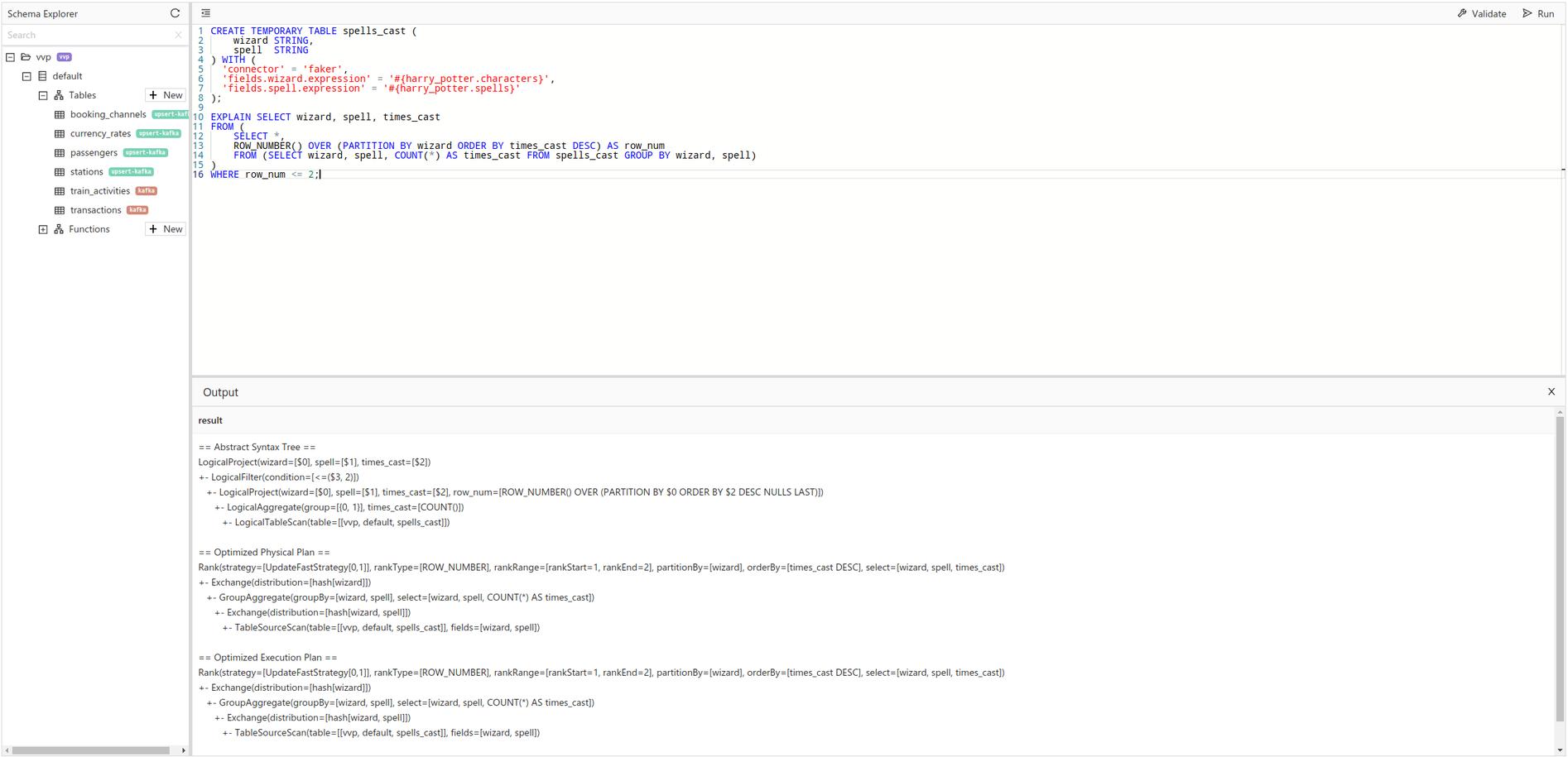 SQL EXPLAIN support, Ververica Platform 2.5, Apache Flink 1.13