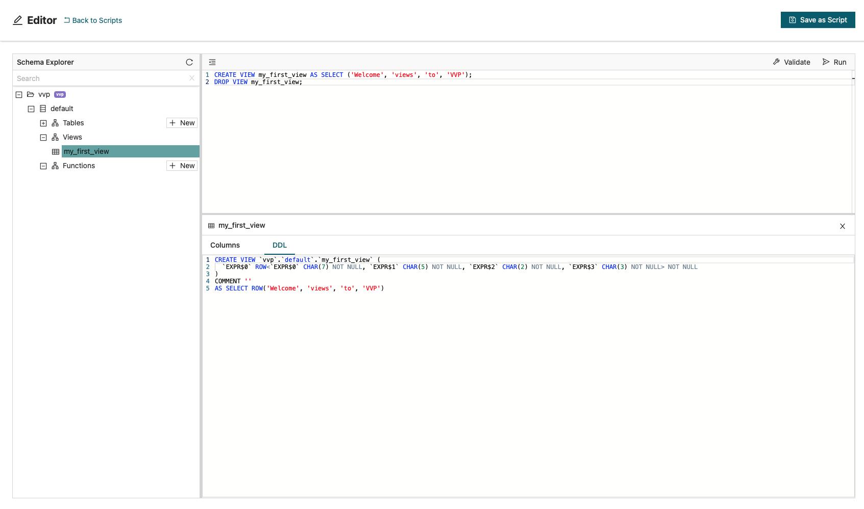 SQL Views Support, Ververica Platform 2.5, Apache Flink