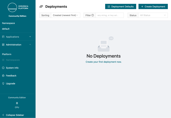 Ververica Platform Community Edition, Deployments, Flink, Apache Flink