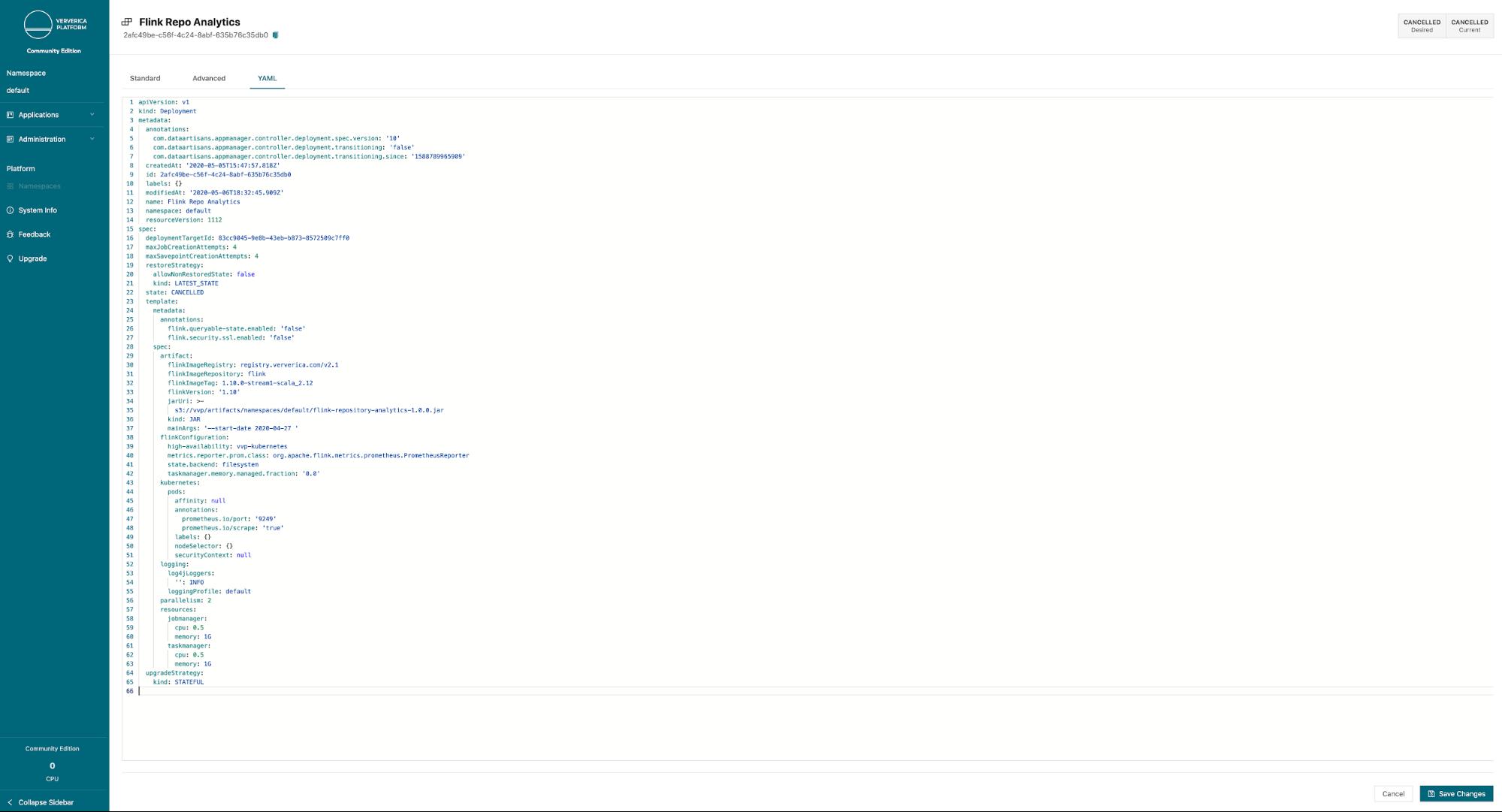 Ververica Platform Community Edition, Flink Repository, Apache Flink