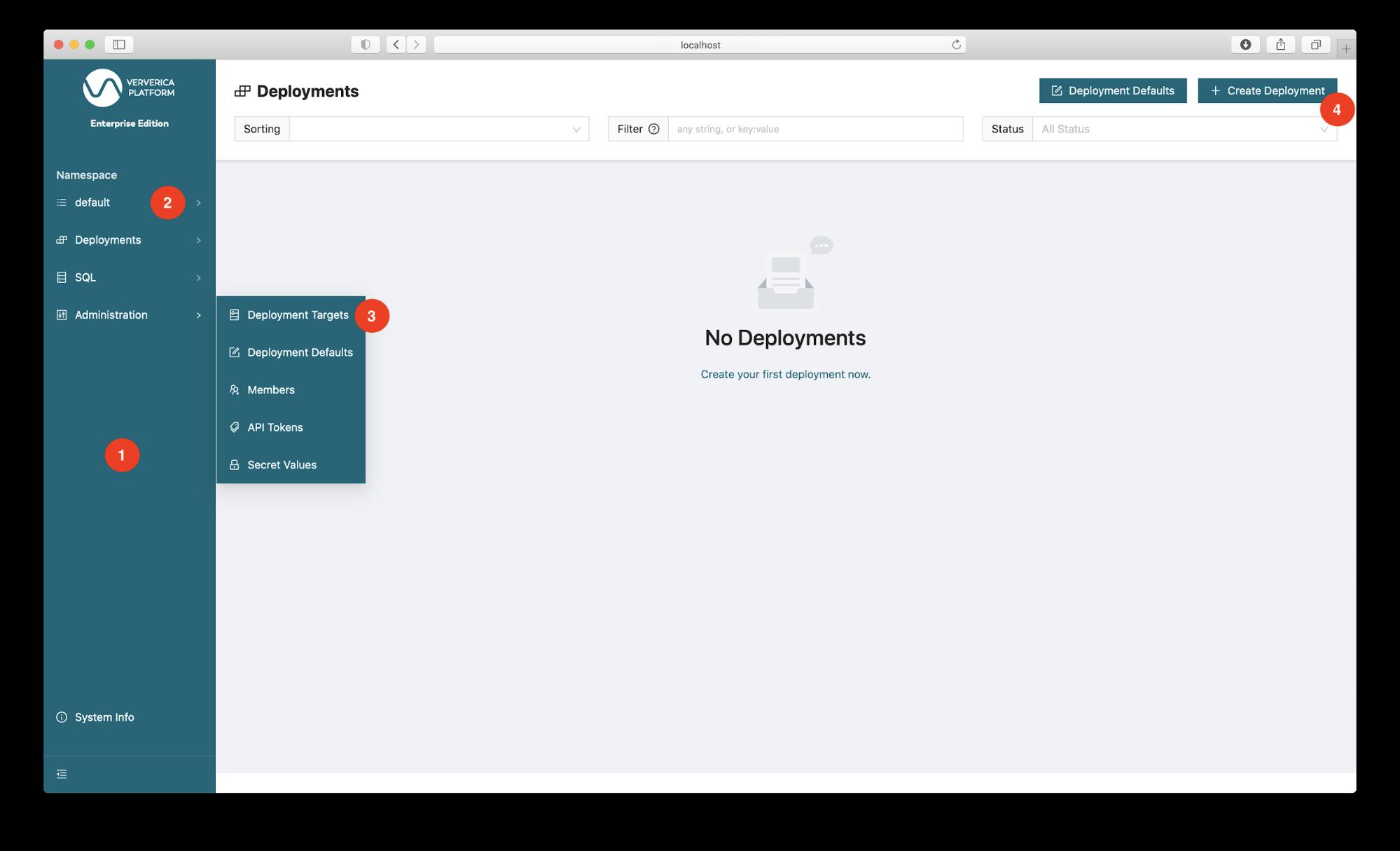 Ververica Platform, Deployments, Flink deployment, Flink on Kubernetes