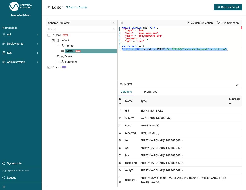 Ververica Platform 2.5, Custom Catalogs Support