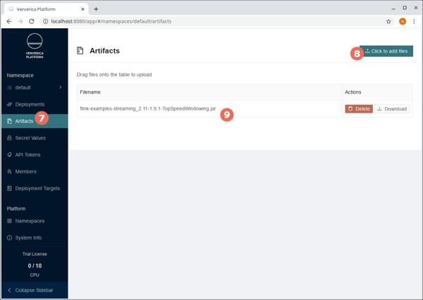vvp, Ververica Platform, artifacts, Apache Flink