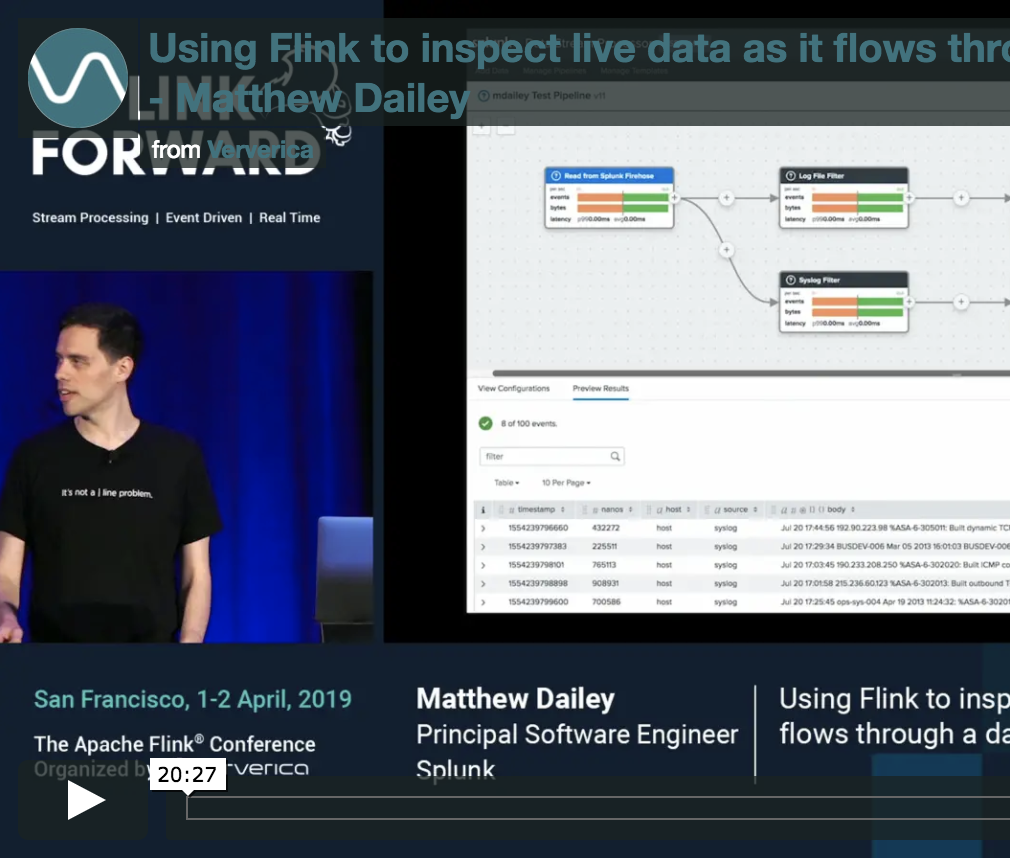 Using Flink to inspect live data as it flows through a data pipeline