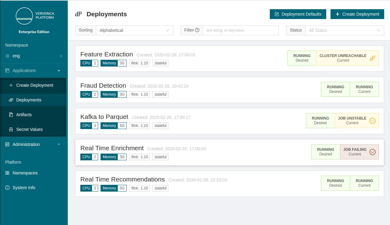 Ververica Platform 2.1, Ververica Platform, Apache Flink